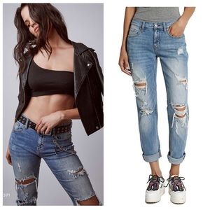 Eunina Boyfriend Relaxed Cropped Jeans